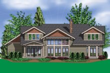 Dream House Plan - Craftsman Exterior - Rear Elevation Plan #48-148
