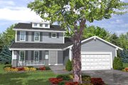 Traditional Style House Plan - 4 Beds 2.5 Baths 1701 Sq/Ft Plan #50-107 Exterior - Front Elevation