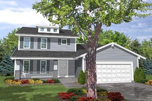 Traditional Exterior - Front Elevation Plan #50-107