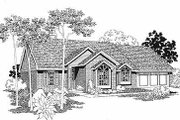 Traditional Style House Plan - 3 Beds 2 Baths 1452 Sq/Ft Plan #310-122 Exterior - Other Elevation