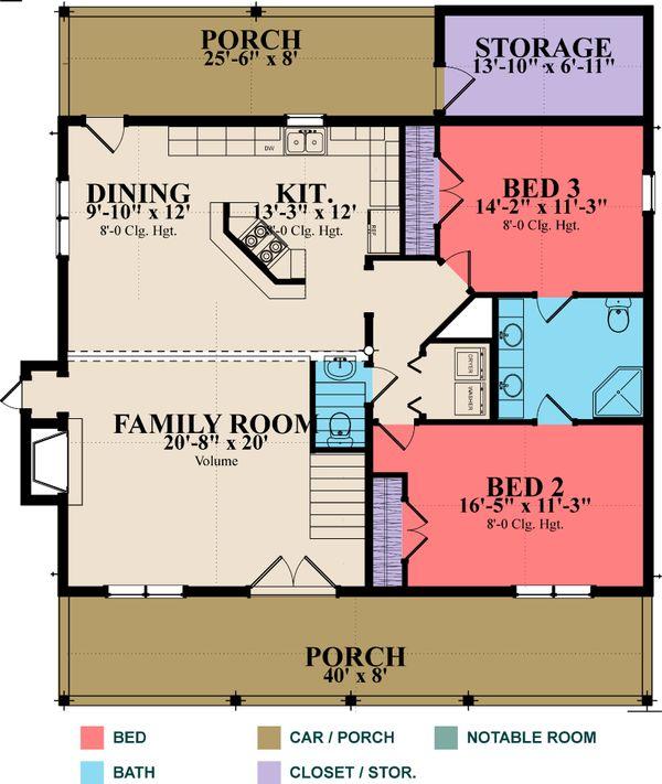 Log Floor Plan - Main Floor Plan #63-280