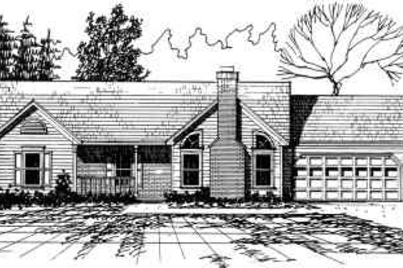 Contemporary Style House Plan - 3 Beds 2 Baths 1439 Sq/Ft Plan #30-139