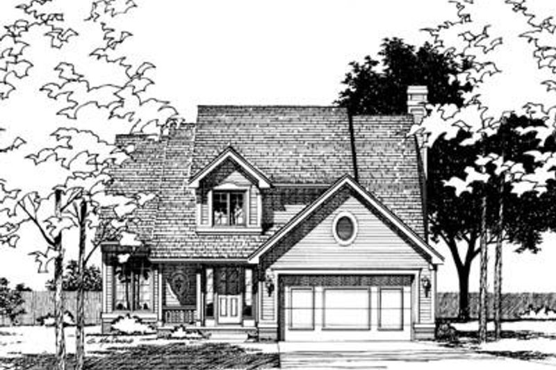 Traditional Exterior - Front Elevation Plan #20-512 - Houseplans.com
