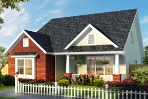 Cottage Exterior - Front Elevation Plan #513-2176