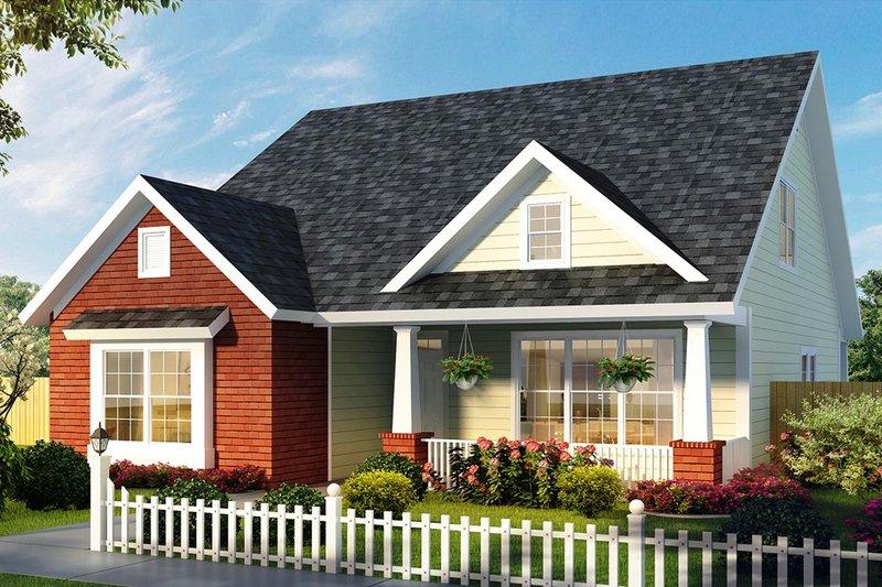 House Plan Design - Cottage Exterior - Front Elevation Plan #513-2176