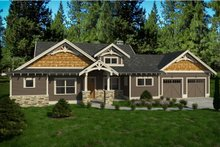 Craftsman Exterior - Front Elevation Plan #895-86
