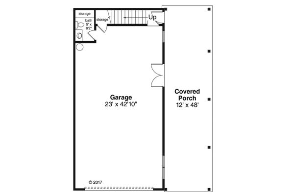 House Plan Design - Craftsman Floor Plan - Main Floor Plan #124-1038