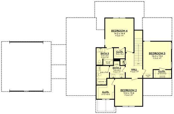 House Plan Design - Farmhouse Floor Plan - Upper Floor Plan #430-248