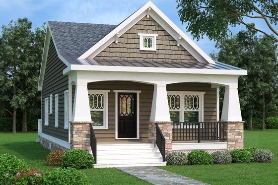 Bungalow Exterior - Front Elevation Plan #419-228