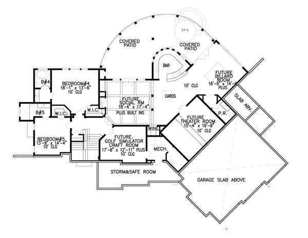Craftsman Floor Plan - Other Floor Plan #54-391
