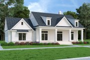 Farmhouse Style House Plan - 3 Beds 2 Baths 1932 Sq/Ft Plan #45-594 Exterior - Front Elevation