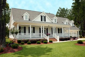 Home Plan - southern country cottage house designed in North Carolina by William Poole