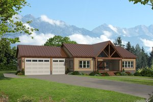 Country Exterior - Front Elevation Plan #932-385