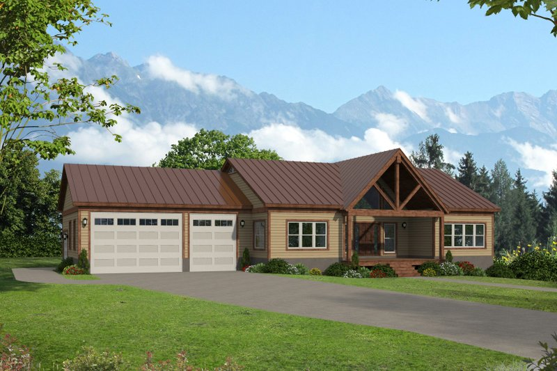 Country Style House Plan - 2 Beds 2 Baths 1763 Sq/Ft Plan #932-385