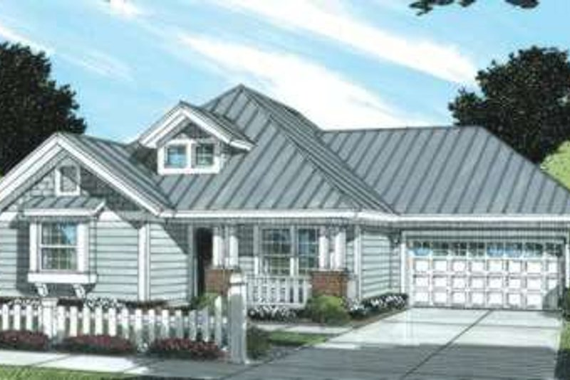 Home Plan - Traditional Exterior - Front Elevation Plan #20-1888