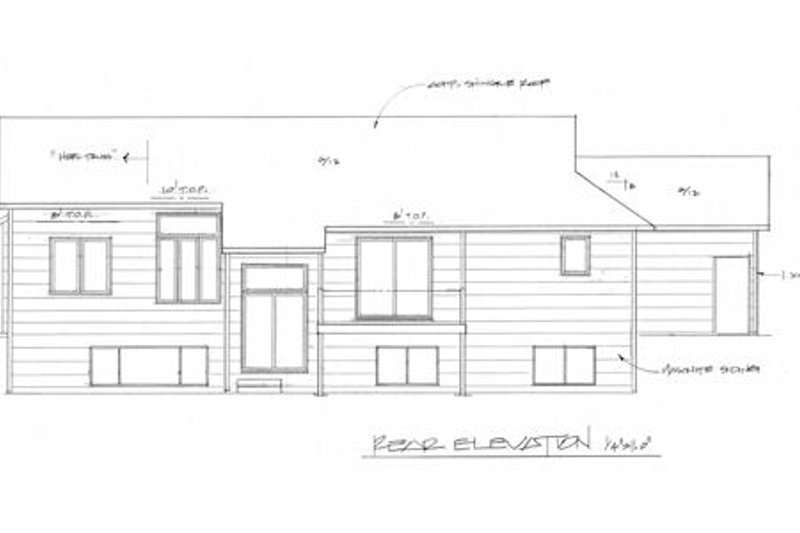 Traditional Exterior - Rear Elevation Plan #58-163 - Houseplans.com
