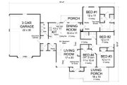 Traditional Style House Plan - 4 Beds 2.5 Baths 1808 Sq/Ft Plan #513-2067 Floor Plan - Main Floor Plan