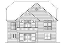 House Plan Design - Traditional Exterior - Rear Elevation Plan #48-420