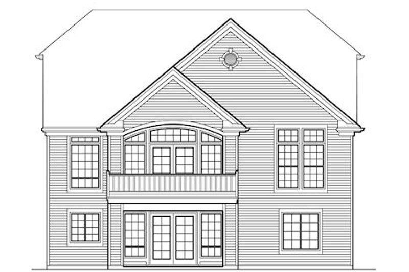 Traditional Exterior - Rear Elevation Plan #48-420 - Houseplans.com