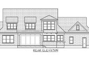 Traditional Style House Plan - 4 Beds 4.5 Baths 3592 Sq/Ft Plan #413-886 Exterior - Rear Elevation