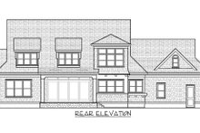 Dream House Plan - Traditional Exterior - Rear Elevation Plan #413-886