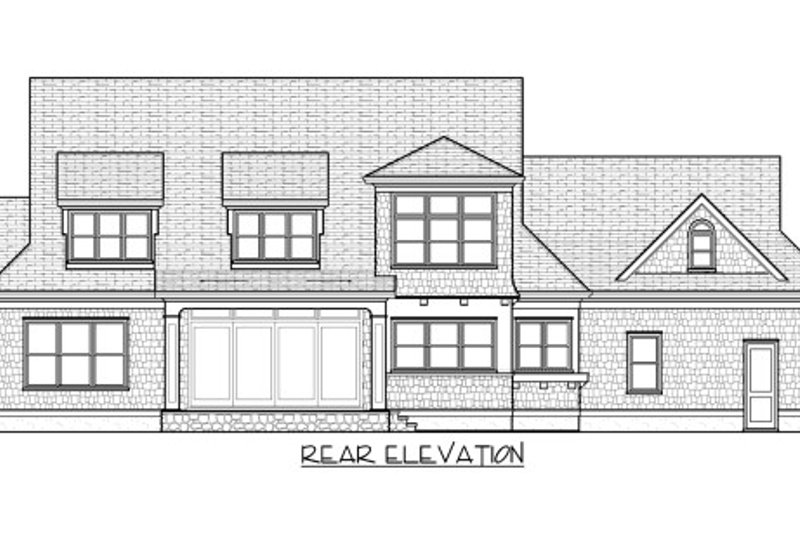 Traditional Exterior - Rear Elevation Plan #413-886 - Houseplans.com
