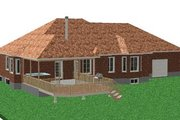 Traditional Style House Plan - 2 Beds 2 Baths 2150 Sq/Ft Plan #414-101 Exterior - Rear Elevation