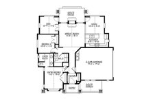 Craftsman Floor Plan - Main Floor Plan Plan #132-194