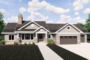 Craftsman Exterior - Front Elevation Plan #920-32