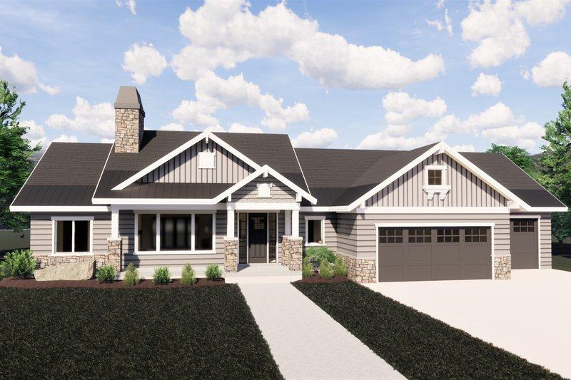 House Design - Craftsman Exterior - Front Elevation Plan #920-32
