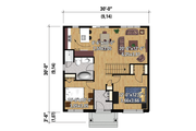 Contemporary Style House Plan - 2 Beds 1 Baths 900 Sq/Ft Plan #25-4271 Floor Plan - Main Floor