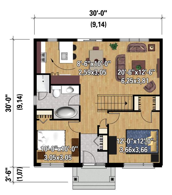Contemporary Floor Plan - Main Floor Plan #25-4271