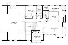 Victorian Floor Plan - Upper Floor Plan Plan #1060-51