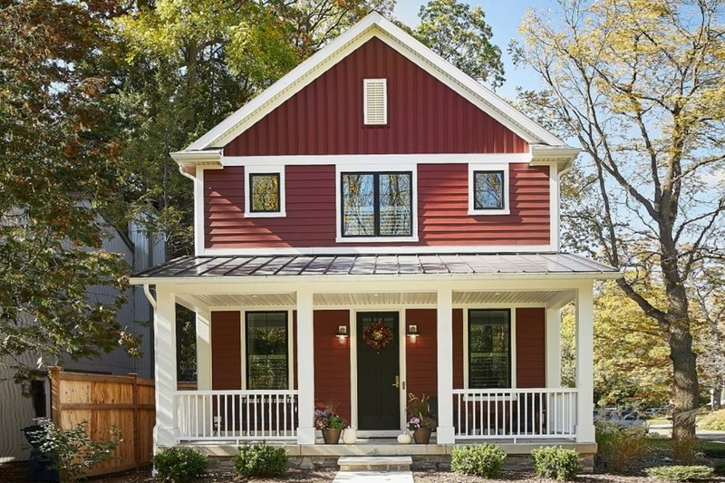 Home Plan - Farmhouse Exterior - Front Elevation Plan #901-136