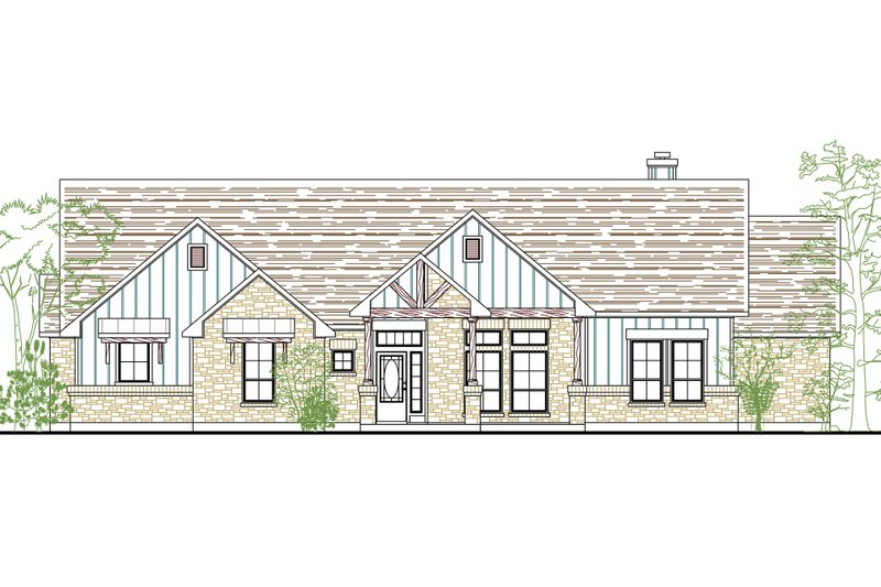 Architectural House Design - Traditional Exterior - Front Elevation Plan #80-166