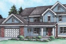 Architectural House Design - Traditional Exterior - Front Elevation Plan #20-1764