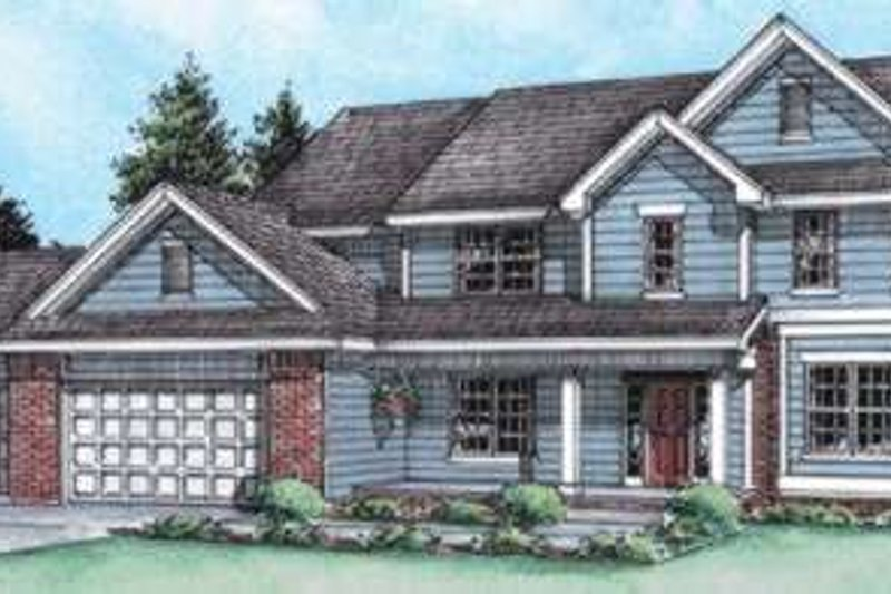 Traditional Exterior - Front Elevation Plan #20-1764 - Houseplans.com