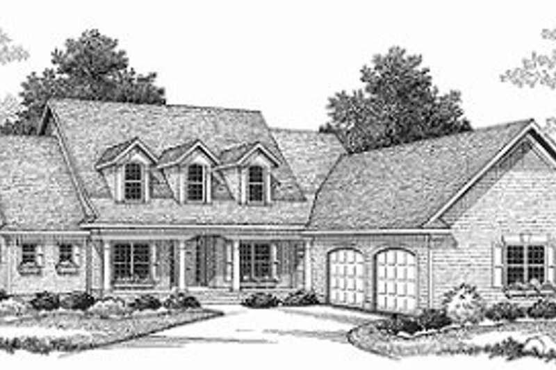 Dream House Plan - Traditional Exterior - Front Elevation Plan #70-447