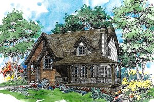 Country Exterior - Front Elevation Plan #970-9