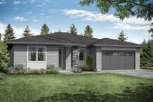 Architectural House Design - Prairie Exterior - Front Elevation Plan #124-1173