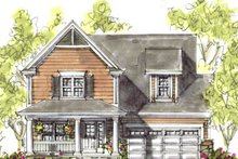 Cottage Exterior - Front Elevation Plan #20-1206