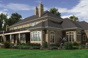 European Style House Plan - 8 Beds 6.5 Baths 9787 Sq/Ft Plan #48-624 Exterior - Rear Elevation