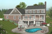 Traditional Style House Plan - 4 Beds 3.5 Baths 2499 Sq/Ft Plan #56-585 Exterior - Outdoor Living