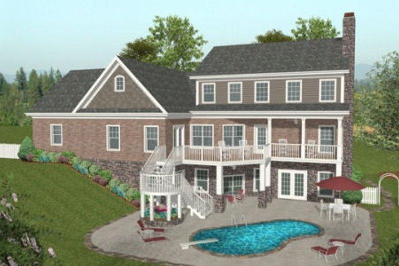 Traditional Exterior - Outdoor Living Plan #56-585 - Houseplans.com