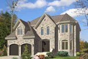 European Style House Plan - 3 Beds 2.5 Baths 2482 Sq/Ft Plan #138-172 Exterior - Front Elevation