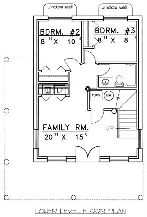 Log Floor Plan - Lower Floor Plan Plan #117-107