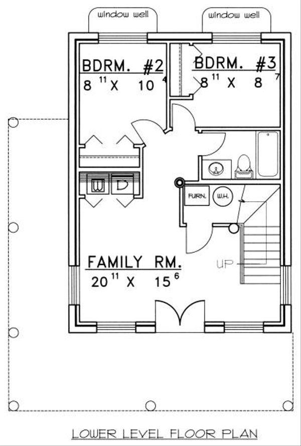 Log Floor Plan - Lower Floor Plan #117-107