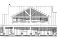 Country Exterior - Rear Elevation Plan #932-144