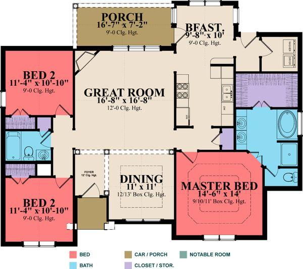 European Floor Plan - Main Floor Plan Plan #63-297