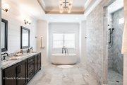 European Style House Plan - 5 Beds 5 Baths 4357 Sq/Ft Plan #929-893 Interior - Master Bathroom